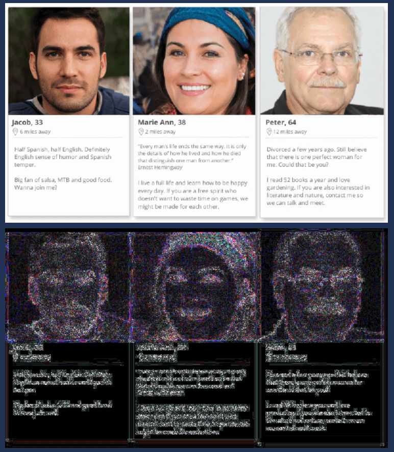 Results from examining an image using FotoForensics