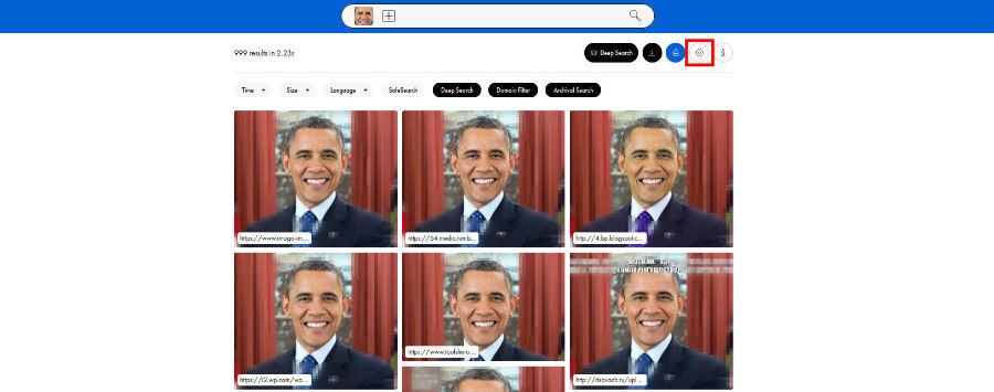 Search filters allow you to narrow the face-search and find photos you are looking for