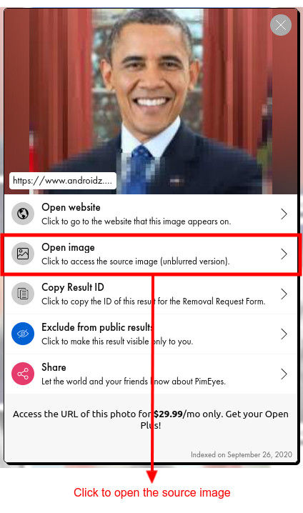 How to open the source image