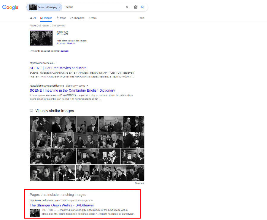 Search video by image